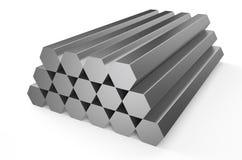 Rolled metal, hexagon Stock Image