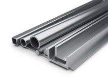 Rolled metal industrial background. Royalty Free Stock Photos