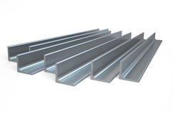 Rolled metal L-bar, angle Stock Images
