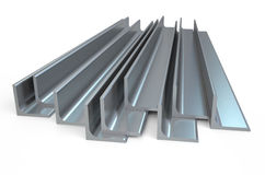 Rolled metal L-bar, angle Royalty Free Stock Photos