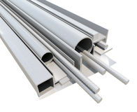 Rolled metal products. 3d render Stock Image