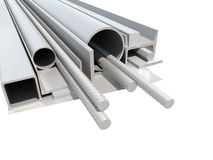 Rolled metal products. White background Royalty Free Stock Images