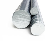 Rolled metal products. On a white background 3D illustration Stock Images