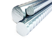 Rolled metal products  on a white background 3D illustration Stock Images