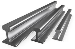 Rolled metal, rails Royalty Free Stock Photos