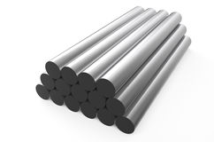 Rolled metal, rounds 1 Stock Images