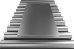 Rolled metal, sheet on rounds Royalty Free Stock Photos