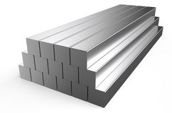 Rolled metal, square stock Royalty Free Stock Image