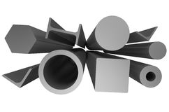 Rolled metal stock 6 Royalty Free Stock Photos