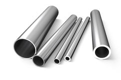 Rolled metal, tube 1 Royalty Free Stock Photos