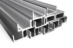 Rolled metal U-bar Stock Images