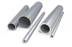 Rolled metal,zinc pipes Royalty Free Stock Photos