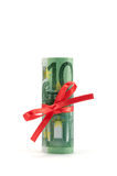 Rolled money vertical Royalty Free Stock Image