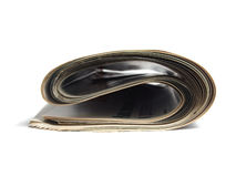Rolled newspaper Royalty Free Stock Photo