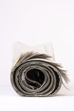 Rolled Newspaper Royalty Free Stock Photography