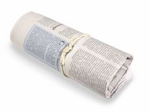 Rolled newspaper Royalty Free Stock Image