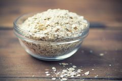 Rolled oat flakes Stock Image