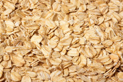 Rolled oats. A macro shot of rolled oats. Food Background Royalty Free Stock Photography