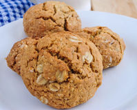 Rolled Oats Cookies. Healthy Rolled Oats Cookies full of fibre and protein royalty free stock image
