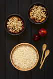 Rolled Oats with Fruit Crumbles Stock Photo
