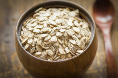 Rolled oats, healthy food Stock Image