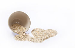 Rolled Oats Heart Royalty Free Stock Photography
