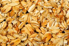 Rolled Oats Macro Royalty Free Stock Photo