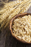 Rolled oats and oat grains Royalty Free Stock Photos