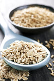 Rolled oats and oat groats Royalty Free Stock Images