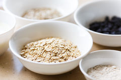 Rolled oats in a plate Royalty Free Stock Photography