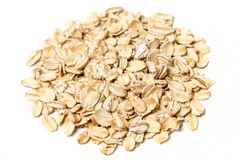 Rolled oats. On a white background stock images