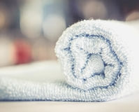Rolled old towel Stock Photos