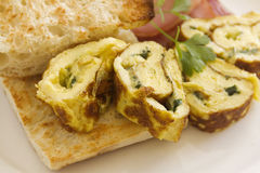 Rolled Omelette royalty free stock photography