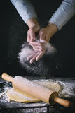 Rolled out dough Stock Image