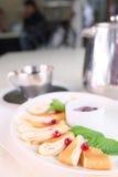 Rolled pancake Royalty Free Stock Images
