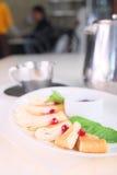 Rolled pancake Royalty Free Stock Photos