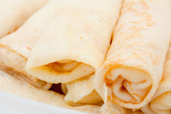 Rolled pancakes Stock Photos