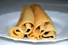 Rolled Pancakes Stock Image