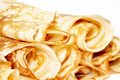 Rolled pancakes Stock Images