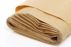 Rolled paper bag Stock Photography