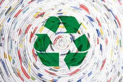 Rolled paper spiral, recycling concept Royalty Free Stock Images