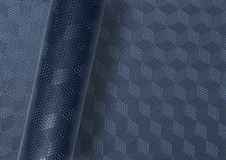 Rolled patterned surface Royalty Free Stock Photo