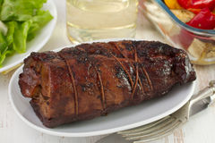 Rolled pork with salad Royalty Free Stock Photo