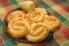 Rolled potato pies Stock Photo