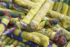 Rolled prayer flags at Swayambhunath, Kathmandu Royalty Free Stock Image