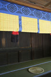 Rolled Reed Screen in Meiji Shrine royalty free stock photography