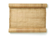 Rolled Scroll. Paper roll - original handmade papyrus Stock Images