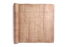 Rolled Scroll. Paper roll - original handmade papyrus Royalty Free Stock Image