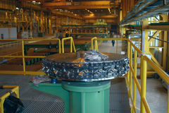 Rolled sheet production on ferrous metallurgy Royalty Free Stock Photography