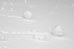 Rolled snowballs Royalty Free Stock Photography